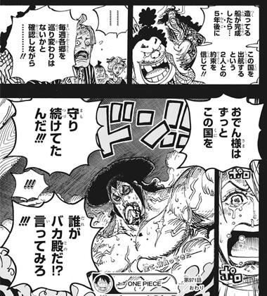 ワンピース971話 しのぶ