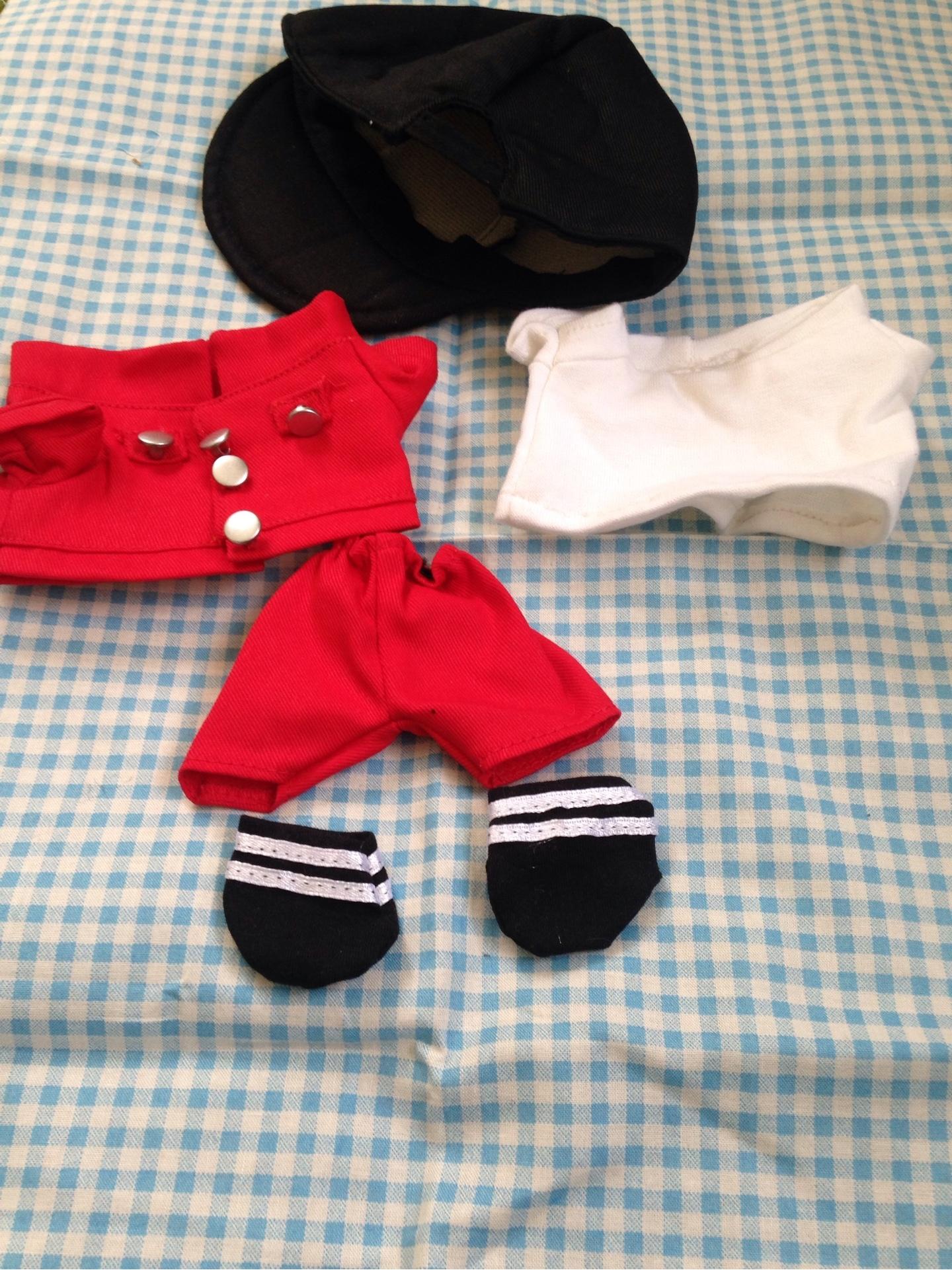 赤ジャケット&パンツ