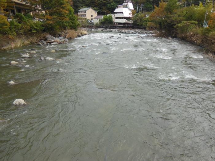 台風後の早川