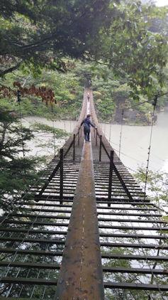 10/20 夢の吊り橋 雅之渡る