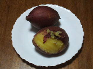 12/12 炊飯器で焼きいも(蒸し芋)