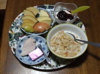 1/22 朝食
