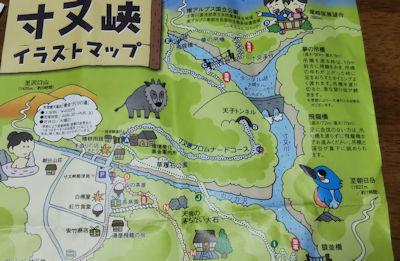 10/20 寸又峡 イラストマップ