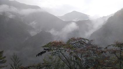 10/22 夢の吊り橋までの道からの景色