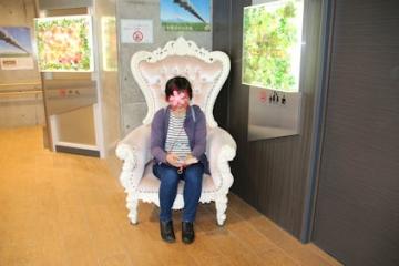 10/21 三島スカイウォーク 総工費2億円のラグジュアリートイレ前に置いてあった椅子で