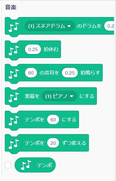 音楽のブロック