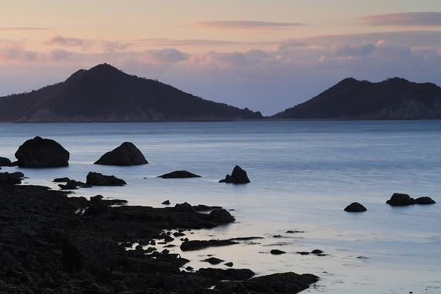 朝の宇治島