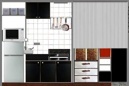 Nantonaku キッチンのカーテン2