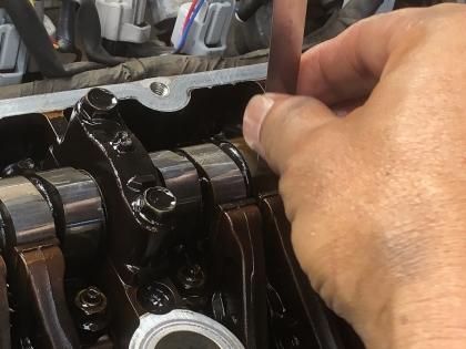 JB33 バルブクリアランス調整