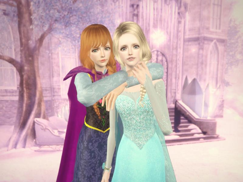 「アナと雪の女王(Frozen)」エルサとアナ