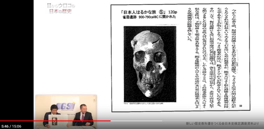 弥生前期の女性の頭骨