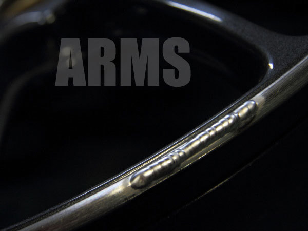 綺麗なアルミ溶接の写真