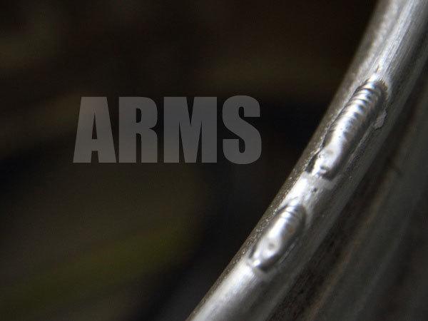 ホイールリムをアルミ溶接にて修理
