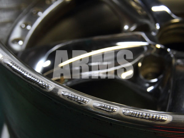 ホイールリムの削れをアルミ溶接にて修理