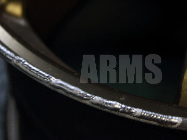 アルミ溶接にてホイールを修復
