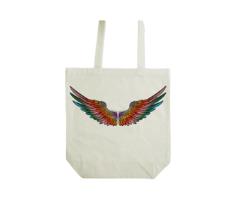 tote bag Crazy color wing