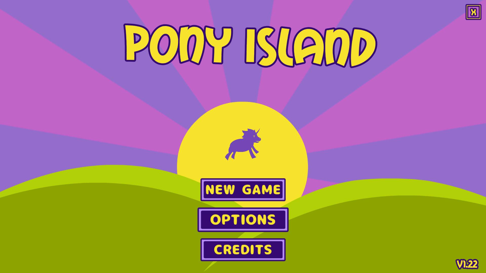 過去に公開された PC ゲーム Pony Island の日本語化ファイルを何とかして再現する方法、PC ゲーム Pony Island 日本語化方法、手順 5 : ゲーム内言語切り替え、ゲームを起動して OPTIONS を選択