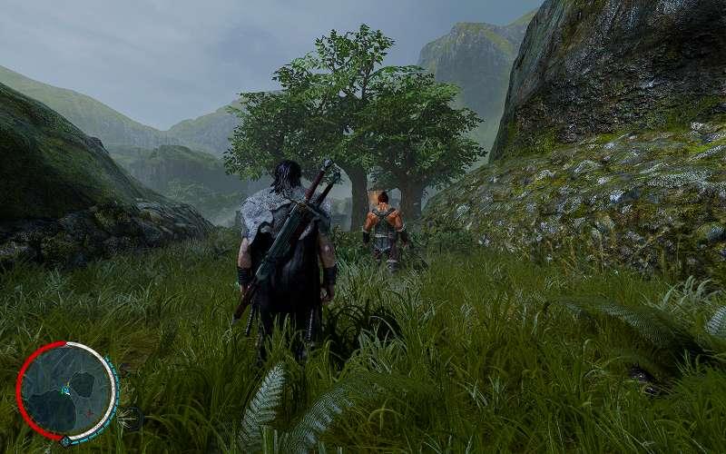 PC ゲーム Middle-earth: Shadow of Mordor GOTY 日本語化とフォント変更方法と DLC The Bright Lord(明王)で日本語を表示する方法、PC ゲーム Middle-earth: Shadow of Mordor GOTY ゲームプレイ最適化情報、FOV 変更方法、Flawless Widescreen - FWS Plugins - Middle Earth: SOM - FOV Fine adjustment Value: 25.00(最大値)のスクリーンショット