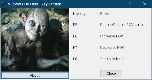 PC ゲーム Middle-earth: Shadow of War Definitive Edition 日本語編集方法とフォント変更方法とゲームプレイ最適化メモ、PC ゲーム Middle-earth: Shadow of War Definitive Edition ゲームプレイ最適化情報、FOV 変更方法、Cheat Engine 不要バージョンでホットキーがキーボードのファンクションキー版を使いたい場合は Fkey フォルダにある MESoW-FOV-Fixer-Fkey.zip を 展開・解凍して MESoW-FOV-Fixer-Fkey.EXE を起動、ゲームを起動してセーブデータロード後に ME:SoW FOV Fixer Fkey Version を起動(ファンクションキー操作)