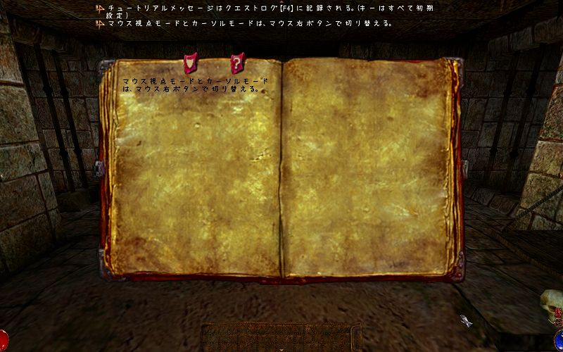 PC ゲーム Arx Fatalis 日本語化とゲームプレイ最適化メモ、Arx Fatalis 音声・字幕日本語化方法、Arx Libertatis 日本語化スクリーンショット、開発版(スナップショット) Arx Libertatis arx-libertatis-1_2-dev-2020-04-02-windows、なつめもじフォント(natumemozi.ttf)