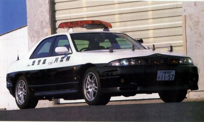 R33 4ドアGTR PC 白黒パト 神奈川県警 平成