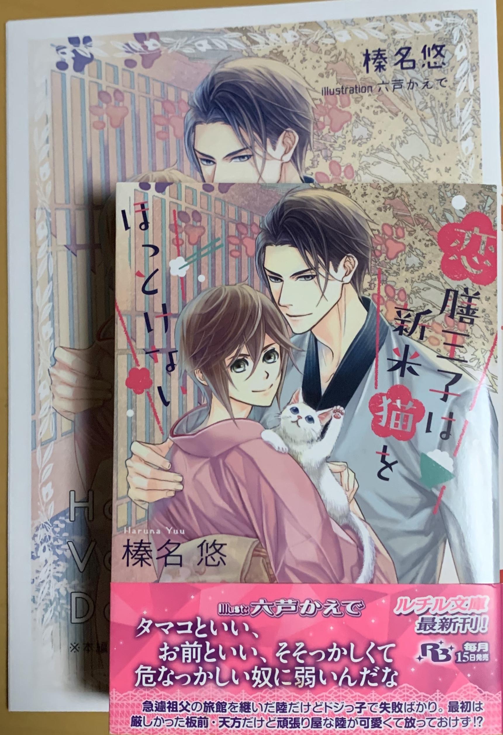 【BL小説】恋膳王子は新米猫をほっとけない/榛名悠・六芦かえで✿イラスト有
