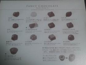 メリー チョコレートパーティーの中のファンシーチョコレートの種類説明