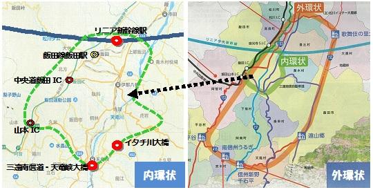 リニア飯田駅マップ