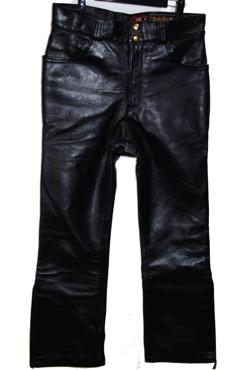 お買取り商品スケアクローカンパニーSCARECROWCOMPANYホースハイドレザーパンツ38黒