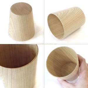 高橋工芸 Kamiグラス 木製 木のコップ ナチュラル 天然木