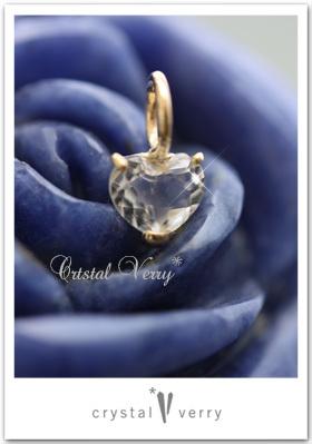 水晶のジュエリー ハート 18金