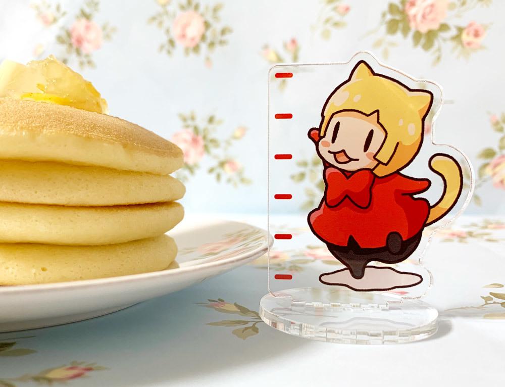 パンケーキの厚みを測れるアクスタ2
