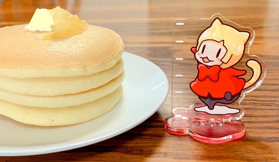 パンケーキの厚みを測れるアクスタ4