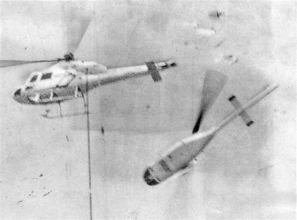昭和59年(1984年)7月31日、兵庫県明石市 毎日新聞社の取材ヘリコプターと朝日放送のチャーター機が空中衝突
