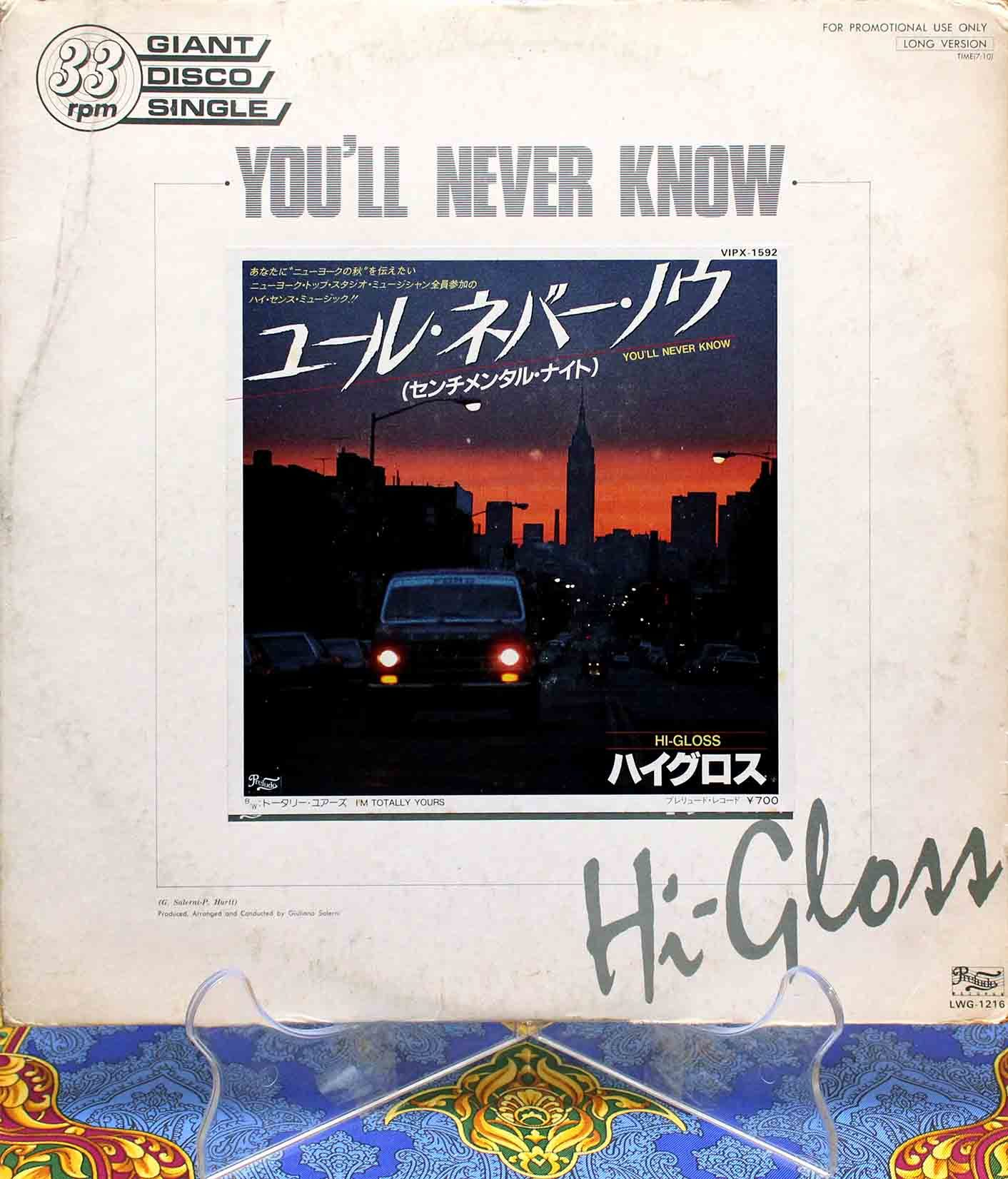 Hi-Gloss ‎– Youll Never Know 01