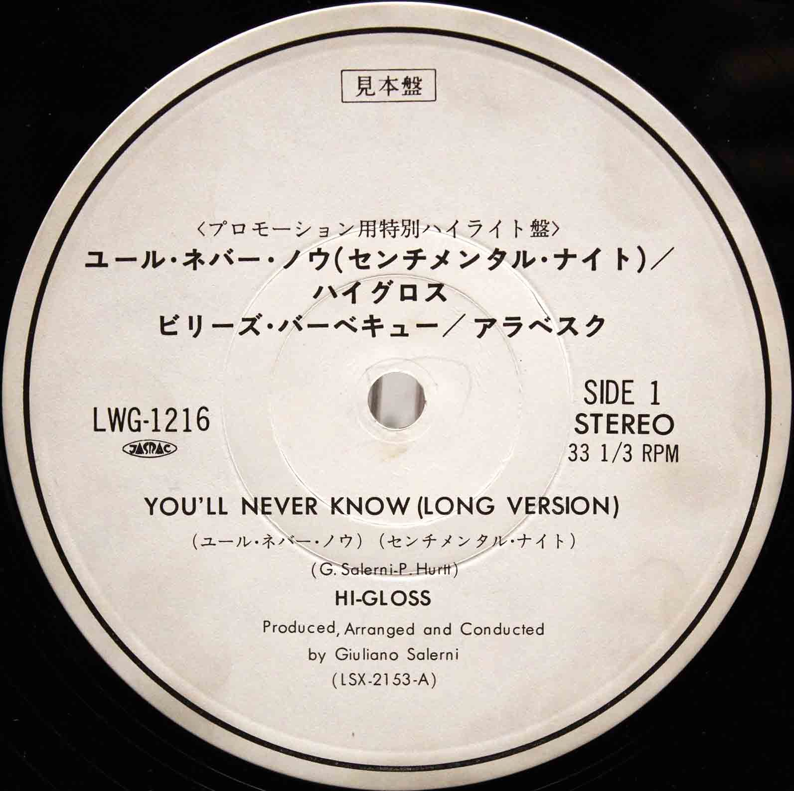 Hi-Gloss ‎– Youll Never Know 02