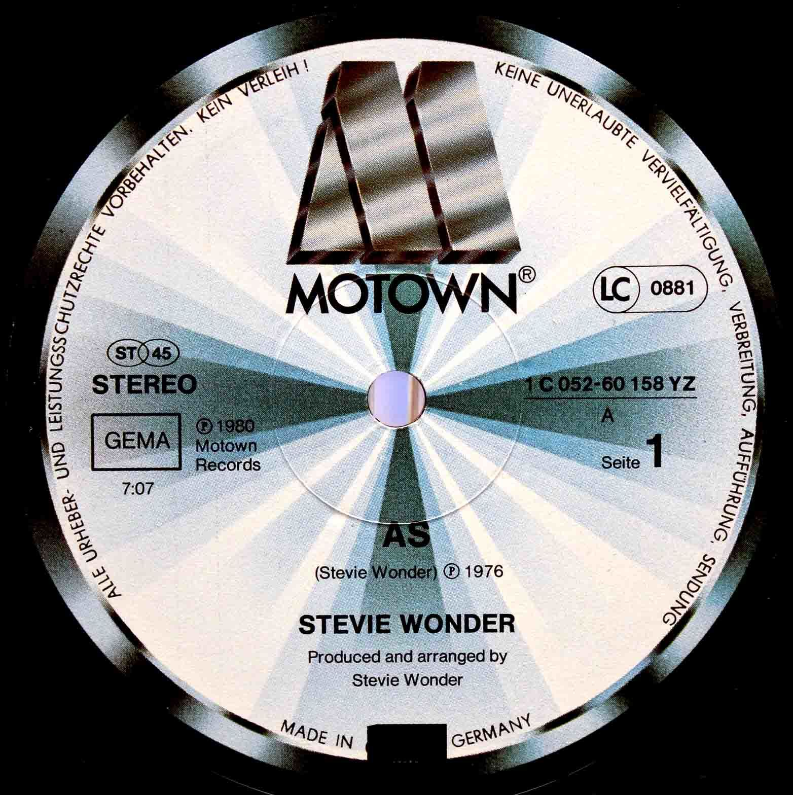 Stevie Wonder ‎– As 12 オリジナル 03