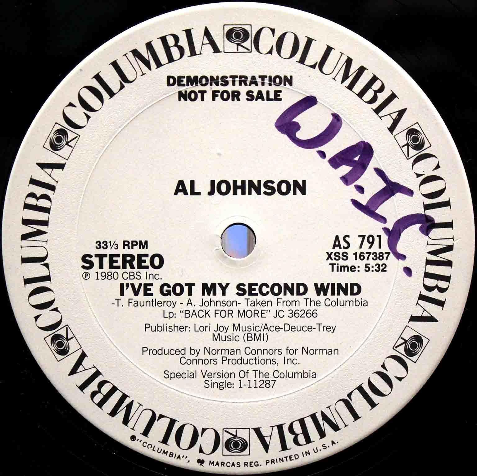Al Johnson – Ive Got My Second Wind 02