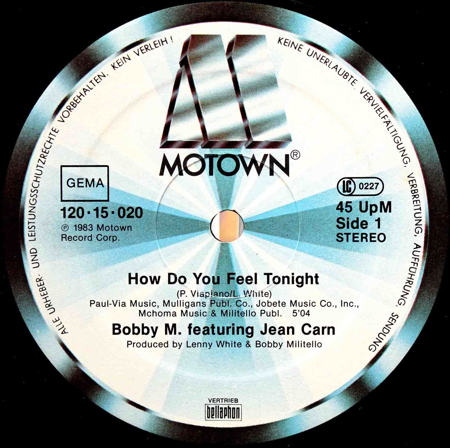 Bobby M Featuring Jean Carn – How Do You Feel Tonight 03