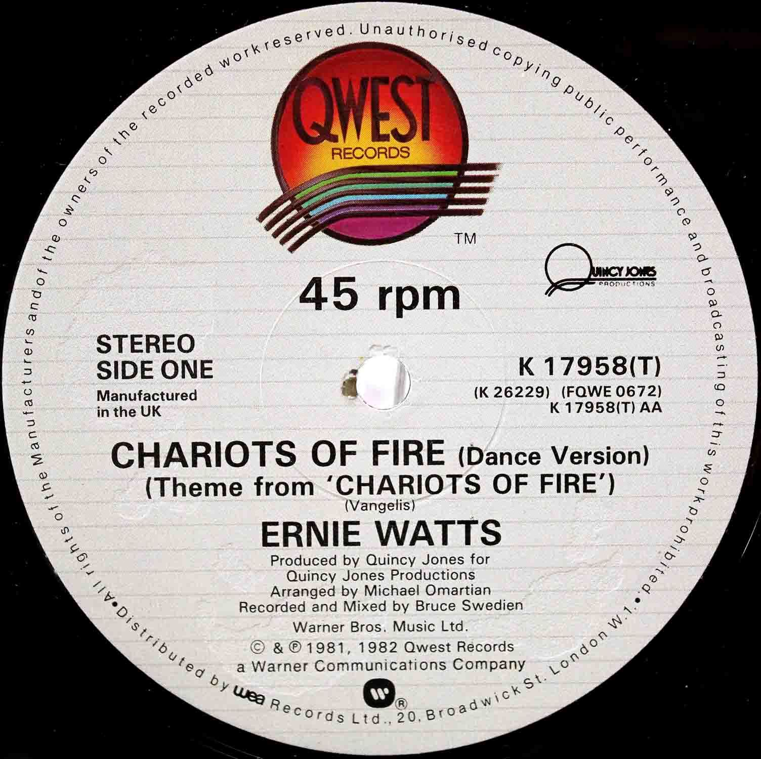 Ernie Watts ‎– Chariots Of Fire 03