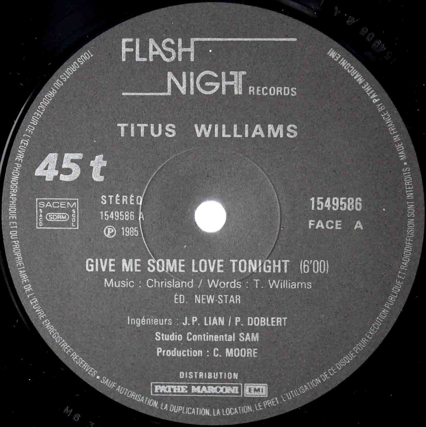 Titus Williams ‎– Give Me Some Love Tonight 03