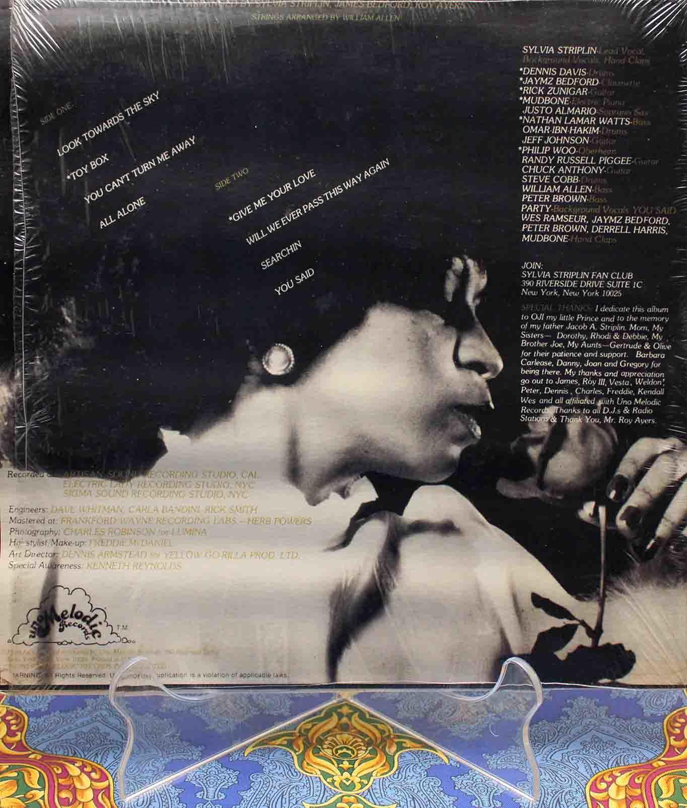 Sylvia Striplin – Give Me Your Love LP02