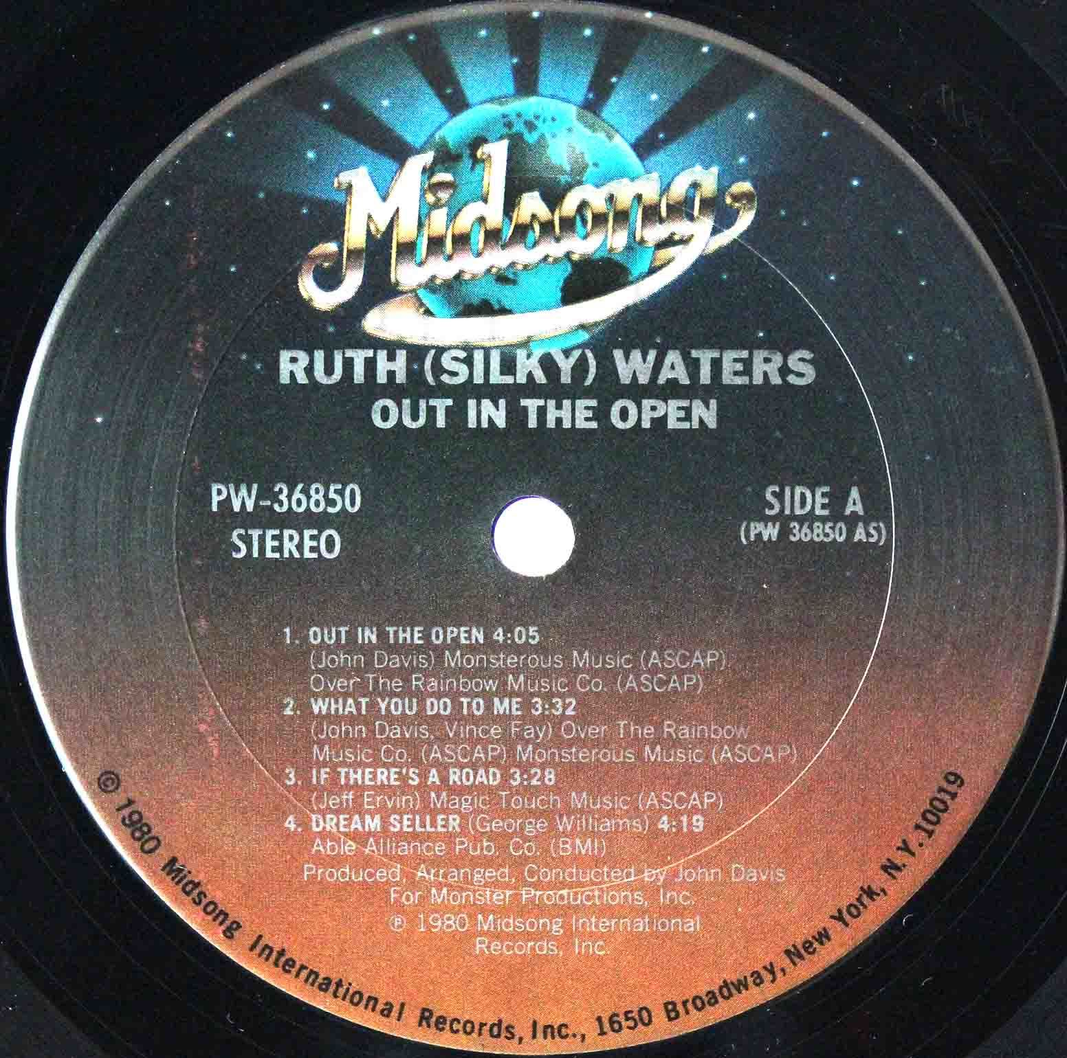 Ruth Silky Waters ‎– Out In The Open 03