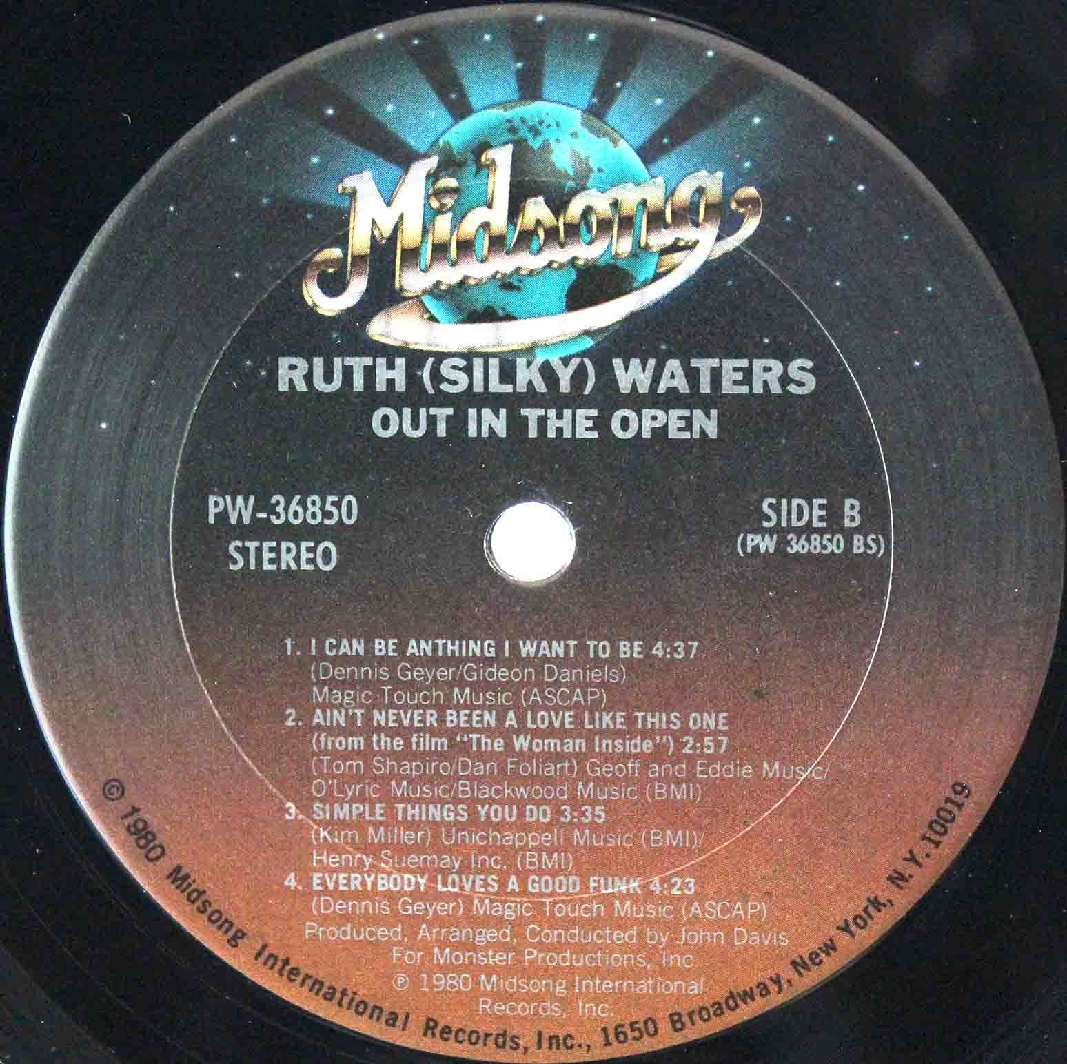 Ruth Silky Waters ‎– Out In The Open 04