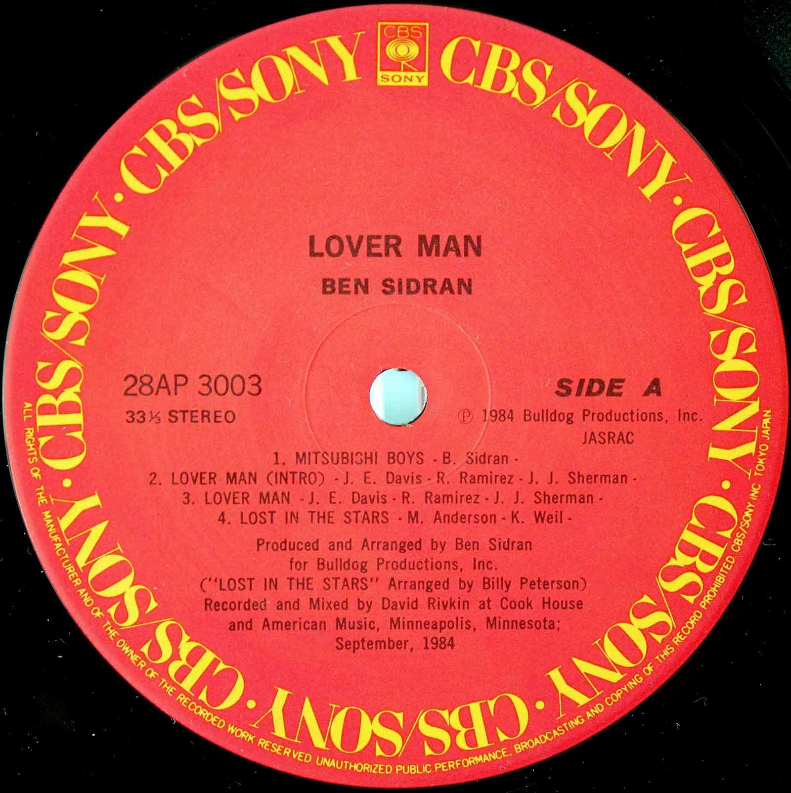Ben Sidran - Lover Man 03