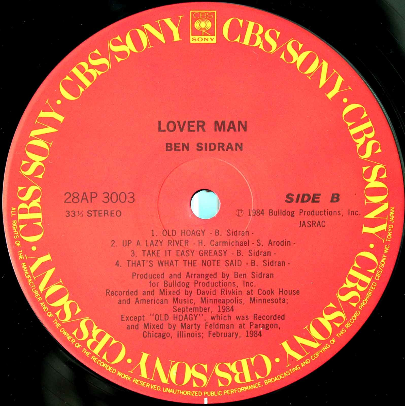 Ben Sidran - Lover Man 04