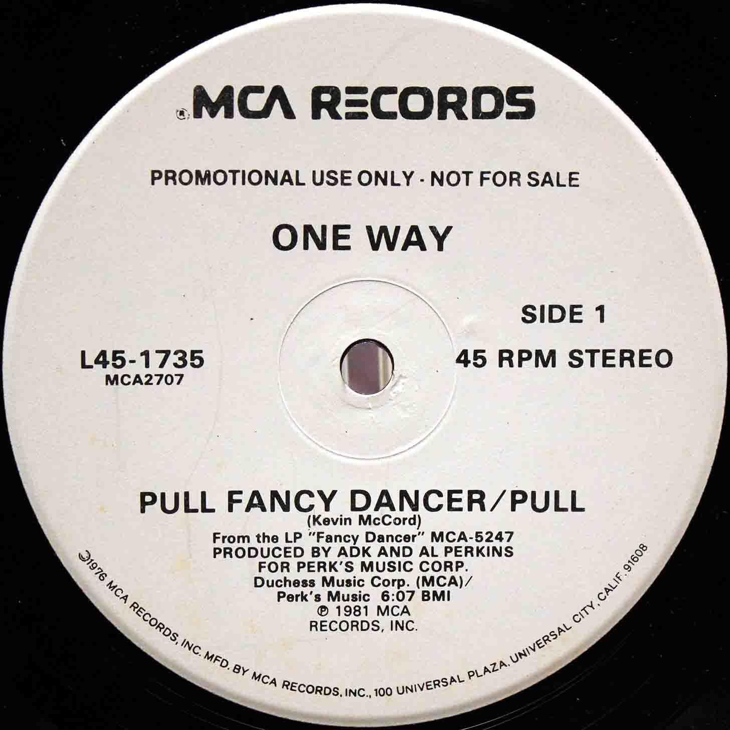 One Way – Pull Fancy Dancer 02