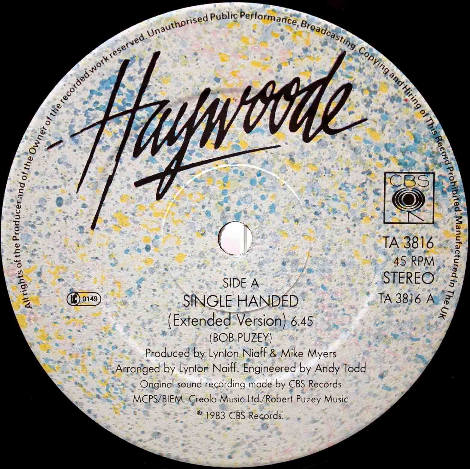 Haywoode ‎– Single Handed 03
