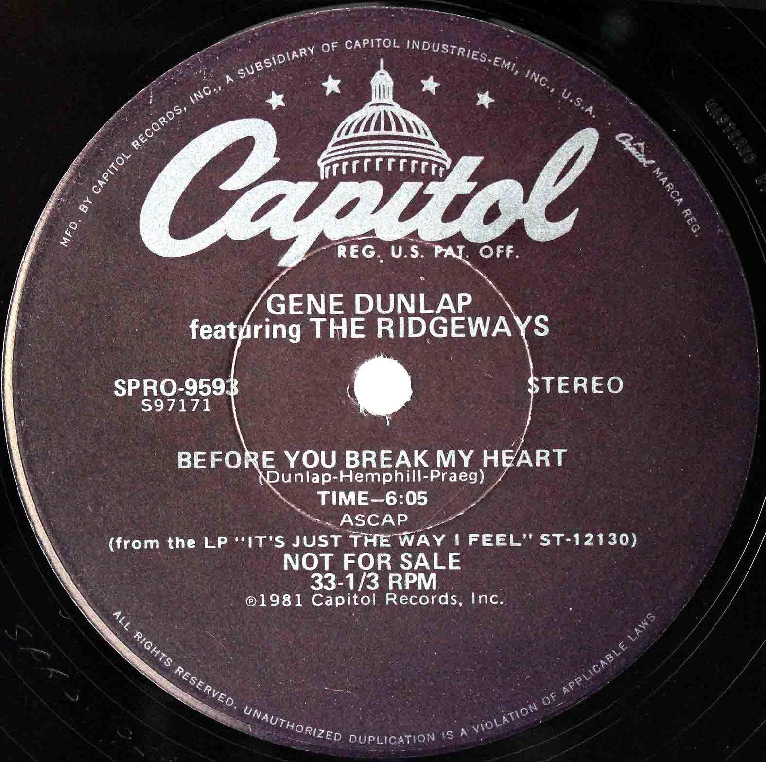 Gene Dunlap Before You Break My Heart 03
