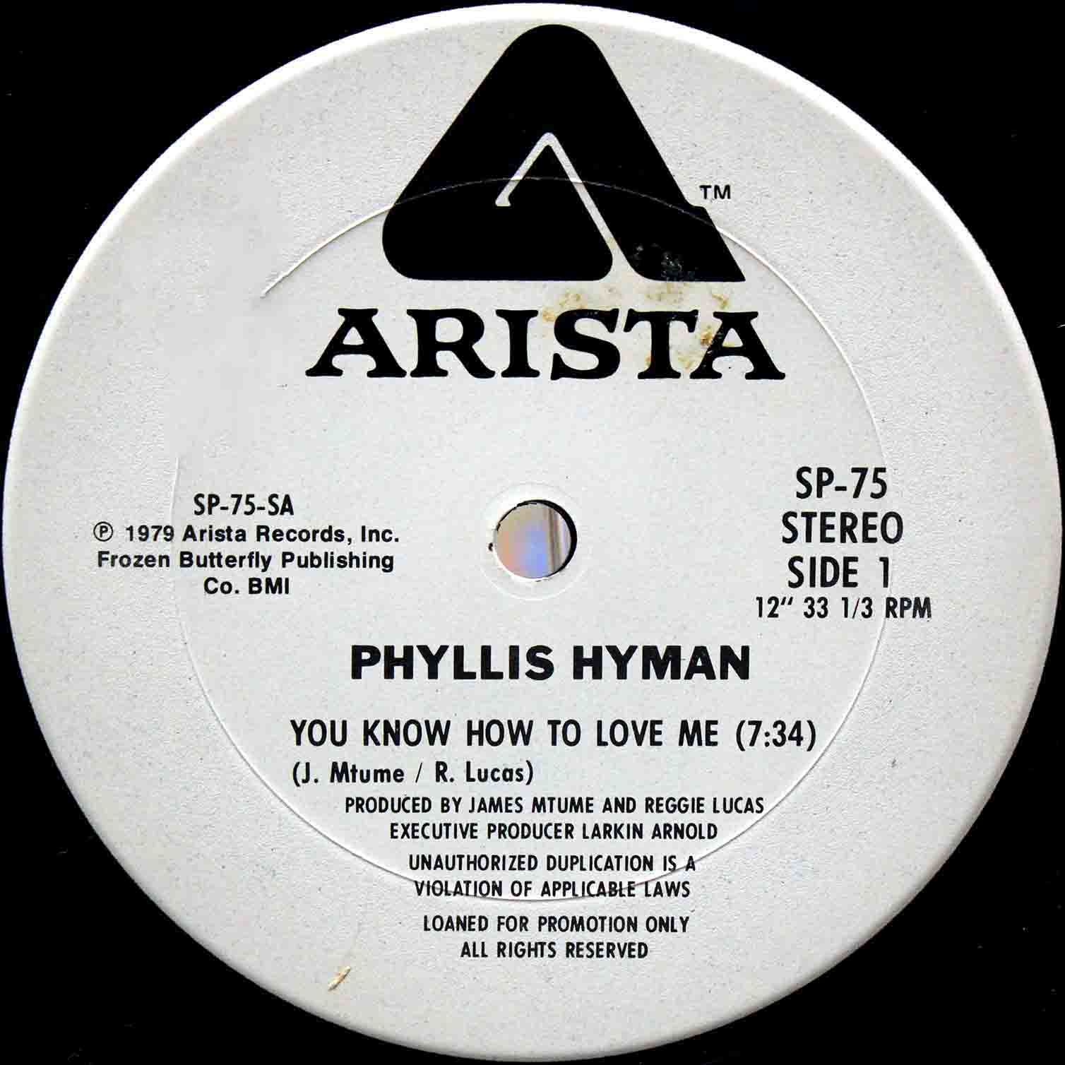 Phyllis Hyman – You Know How To Love Me US Promo 03 2